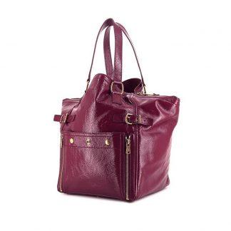 0024a40e4a4b ... Perfect Saint Laurent Replica Downtown small model handbag in purple  patent leather ...