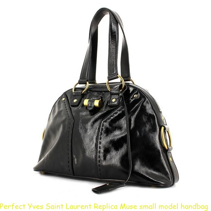 Perfect Yves Saint Laurent Replica Muse small model handbag in black patent  leather a0d085220d16b
