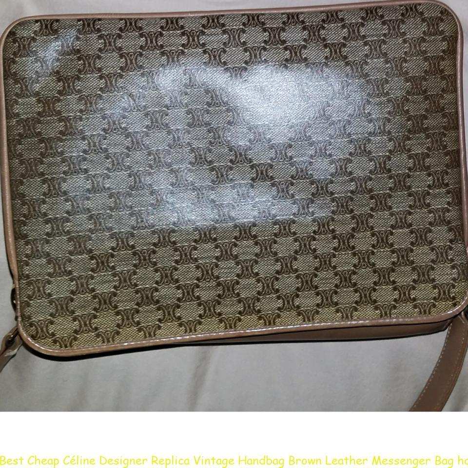 f5a79b1c4b9d Best Cheap Céline Designer Replica Vintage Handbag Brown Leather Messenger  Bag how to spot fake celine box bag