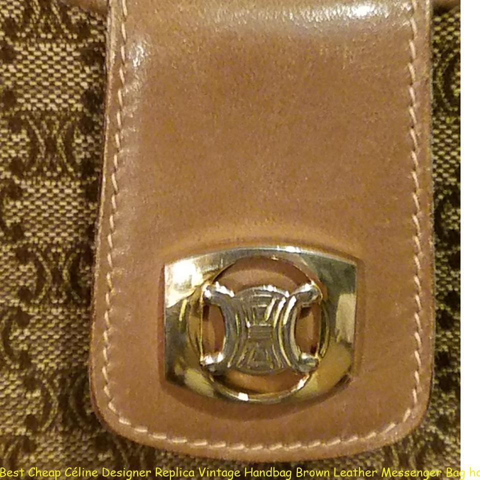 Best Cheap Céline Designer Replica Vintage Handbag Brown Leather Messenger  Bag how to spot fake celine box bag 94930273c237f