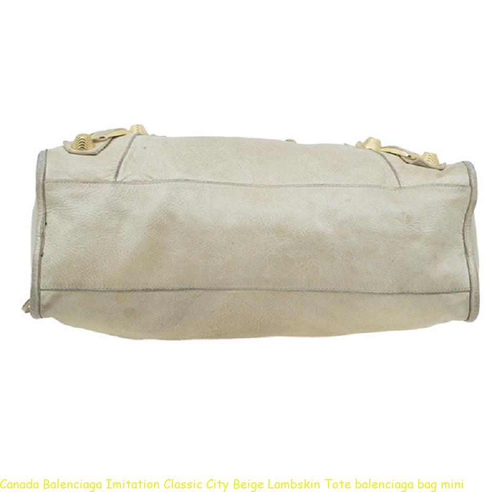 Conception innovante 60615 e22ca Canada Balenciaga Imitation Classic City Beige Lambskin Tote balenciaga bag  mini