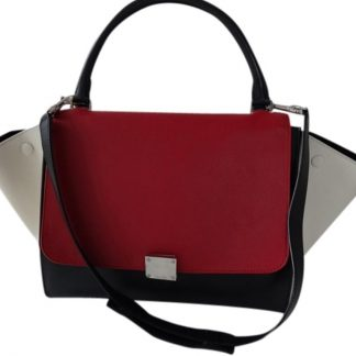 ... Cheap Céline 7 Star Replica Trapeze Tricolor Black Ivory Red Leather Shoulder  Bag celine replica bag ... 5acdb899546d5