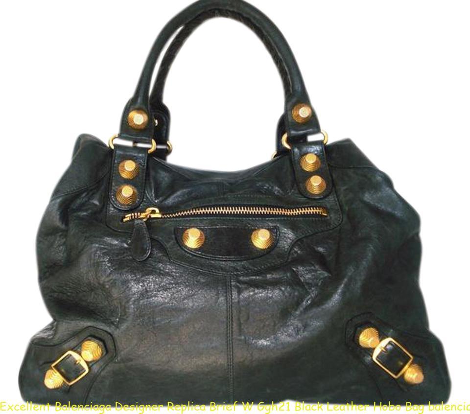 74ce5fc551a Excellent Balenciaga Designer Replica Brief W Ggh21 Black Leather Hobo Bag  balenciaga replica sneaker