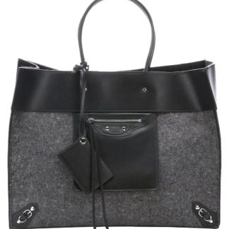 You re viewing  Highest Quality Balenciaga Knockoff And Black Fleece and Leather  Top Handle Gray Felt Tote fake designer websites £1 4f453041257a4