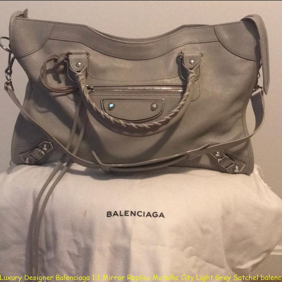 Luxury Designer Balenciaga 1 1 Mirror Replica Metallic City Light Grey  Satchel balenciaga replica bag f47ee15b8182e