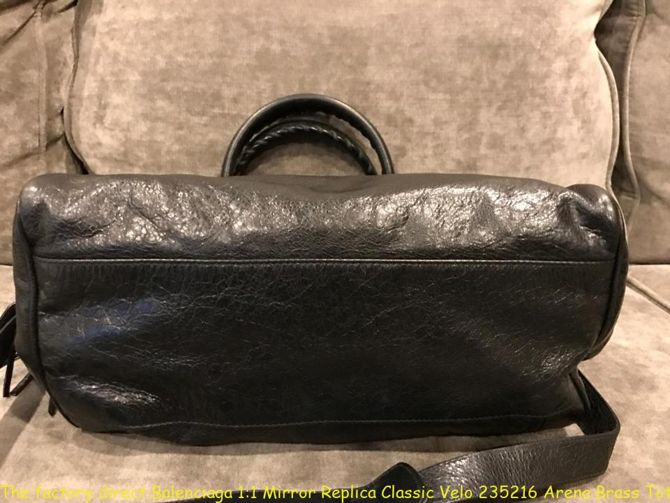 4faf52bbe7a The factory direct Balenciaga 1:1 Mirror Replica Classic Velo 235216 Arena  Brass Tote Black Leather Cross Body Bag ioffer balenciaga review