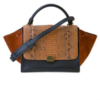 ... US Céline 7 Star Replica New Tapeze In Black and Brown Leather Python  Suede Shoulder Bag celine replica handbag ... 5e04265523efe