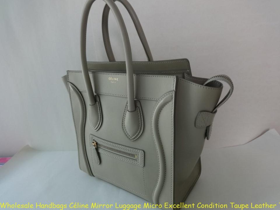 Wholesale Handbags Céline Mirror Luggage Micro Excellent Condition Taupe  Leather Tote fake handbags 5fe4e6057fadf